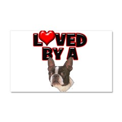 Loved by a Boston Terrier Car Magnet 20 x 12