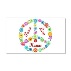 Peace Love Nanas Car Magnet 20 x 12