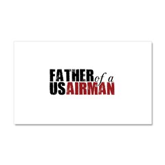 Father of a US Airman - Car Magnet 20 x 12