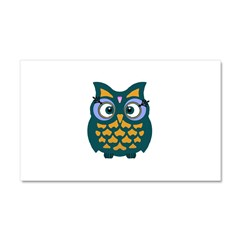 Retro Owl Car Magnet 20 x 12