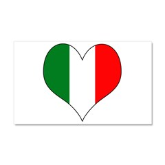 Italy Heart Car Magnet 20 x 12