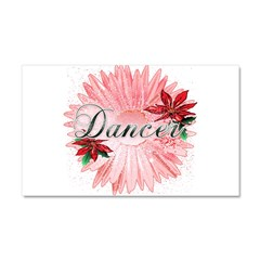 Dancer Pink Snow Flower Car Magnet 20 x 12