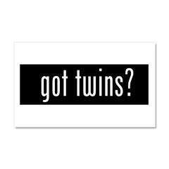 got twins? Car Magnet 20 x 12