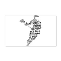 Lacrosse LAX Player Car Magnet 20 x 12