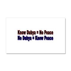 No Dubya Car Magnet 20 x 12