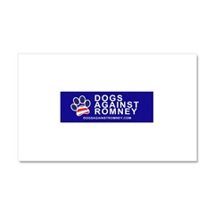 Official Dogs Against Romney Paw Car Magnet 20 x 12