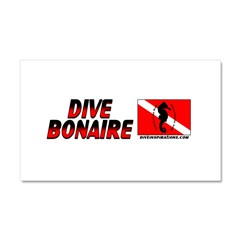 Dive Bonaire (red) Car Magnet 20 x 12