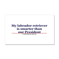 My labrador retriever is smarter (bumper sticker) Car Magnet 20 x 12