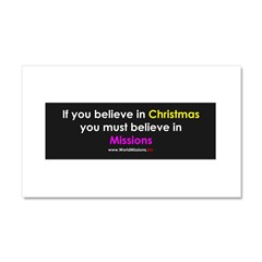 Christmas & Mission Car Magnet 20 x 12