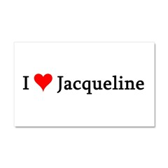 I Love Jacqueline Car Magnet 20 x 12