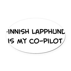 Co-pilot: Finnish Lapphund Oval Car Magnet