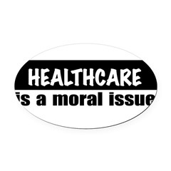 Healthcare Oval Car Magnet