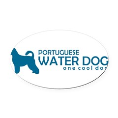 "P. Water Dog ""One Cool Dog"" Oval Car Magnet"