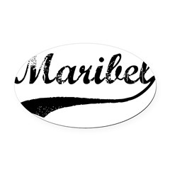 Vintage: Maribel Oval Car Magnet