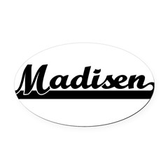 Black jersey: Madisen Oval Car Magnet