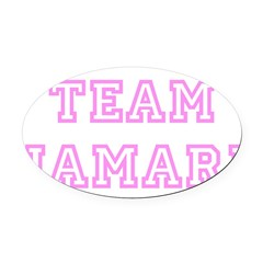 Pink team Jamari Oval Car Magnet