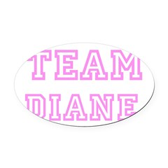 Pink team Diane Oval Car Magnet