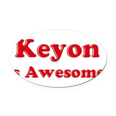 Keyon is Awesome Oval Car Magnet