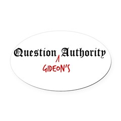 Question Gideon Authority Oval Car Magnet