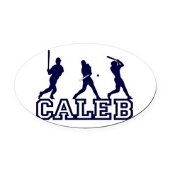 Baseball Caleb Personalized Oval Car Magnet