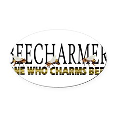 BEECHARMER Oval Car Magnet