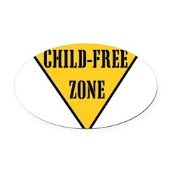 Child-Free Zone Oval Car Magnet