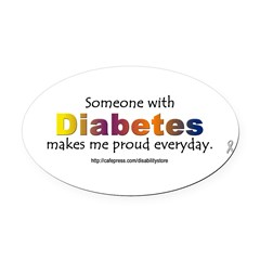 Diabetes Pride Oval Car Magnet