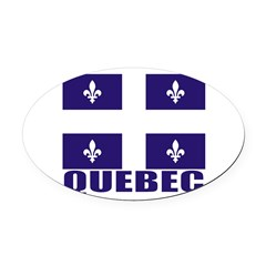 Quebec Oval Car Magnet