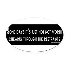 Some Days Oval Car Magnet