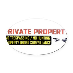 3 x 10 No Trespassing Decal Oval Car Magnet