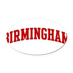 BIRMINGHAM (red) Oval Car Magnet