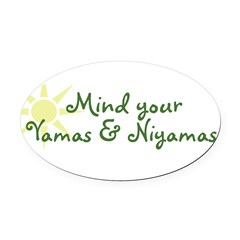 YogaMoxie Oval Car Magnet