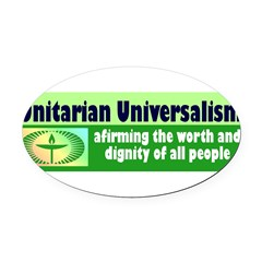 UNITARIAN Oval Car Magnet