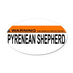 PYRENEAN SHEPHERD Oval Car Magnet