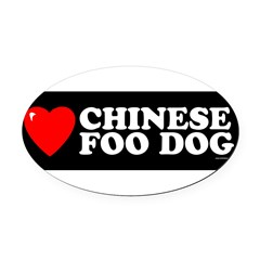 CHINESE FOO DOG Oval Car Magnet