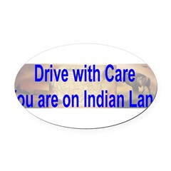 Native American-BS Oval Car Magnet