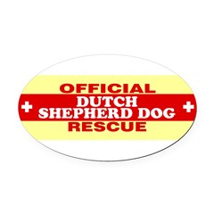 DUTCH SHEPHERD DOG Oval Car Magnet