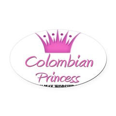 Colombian Princess Oval Car Magnet
