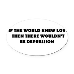 DEPRESSION Oval Car Magnet
