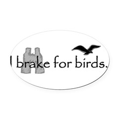 birding Oval Car Magnet