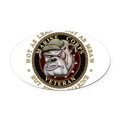 Devil Dog Vet Oval Car Magnet