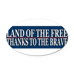 Patriotic - American Veteran Oval Car Magnet