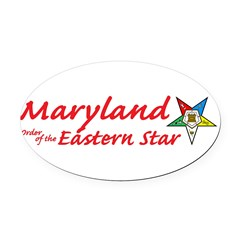 Maryland Eastern Star Oval Car Magnet