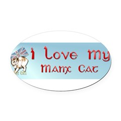 Manx Cats Oval Car Magnet