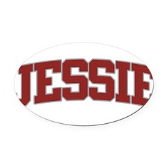 JESSIE Design Oval Car Magnet