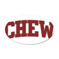 CHEW Design Oval Car Magnet