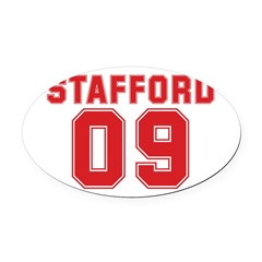 STAFFORD 09 Oval Car Magnet