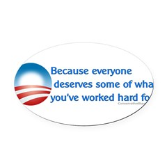 Anti-Obama Because Oval Car Magnet