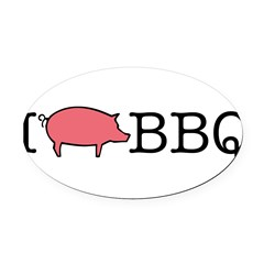 I Cook BBQ Oval Car Magnet