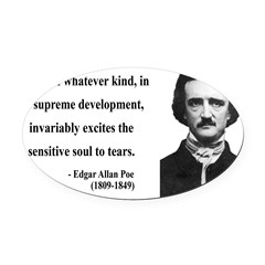 Edgar Allan Poe 11 Oval Car Magnet